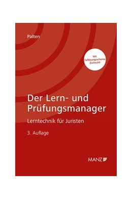 Abbildung von Palten   Der Lern- und Prüfungsmanager   3. Auflage   2020   beck-shop.de