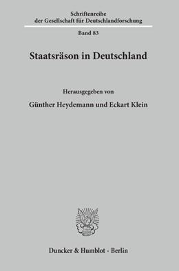 Abbildung von Heydemann / Klein   Staatsräson in Deutschland.   2003   83