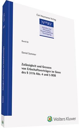Abbildung von Sommer | Zulässigkeit und Grenzen von Erbschaftsverträgen im Sinne des § 311b Abs. 4 und 5 BGB | 1. Auflage | 2020 | beck-shop.de
