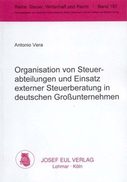 Abbildung von Vera | Organisation von Steuerabteilungen und Einsatz externer Steuerberatung in deutschen Grossunternehmen | 2001 | Eine empirische Analyse | 187