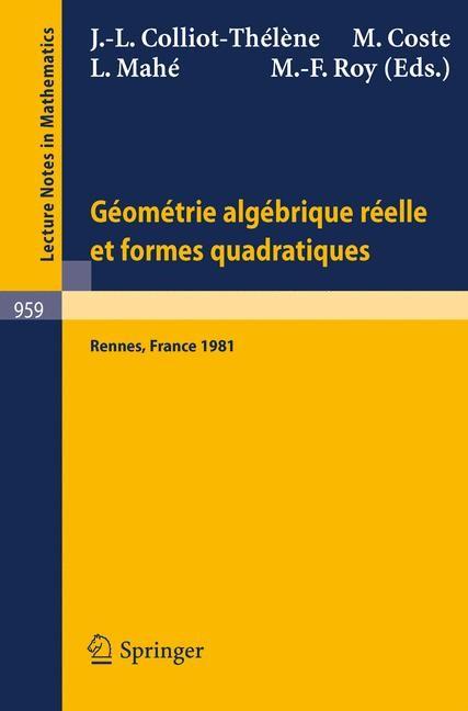 Abbildung von Colliot-Thelene / Coste / Mahe / Roy | Geometrie algebrique reelle et formes quadratiques | 1982