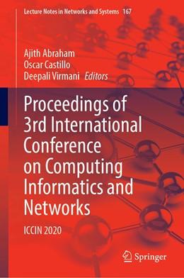 Abbildung von Abraham / Castillo   Proceedings of 3rd International Conference on Computing Informatics and Networks   1. Auflage   2021   167   beck-shop.de