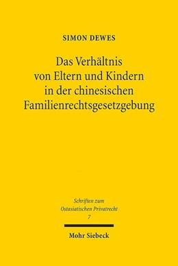 Abbildung von Dewes | Das Verhältnis von Eltern und Kindern in der chinesischen Familienrechtsgesetzgebung | 1. Auflage | 2020 | 7 | beck-shop.de