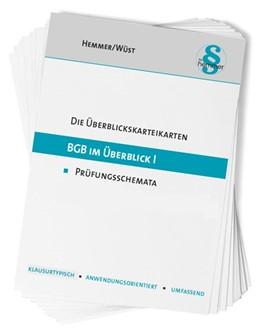 Abbildung von Hemmer / Wüst | Karteikarten BGB im Überblick I | 15. Auflage | 2020 | beck-shop.de
