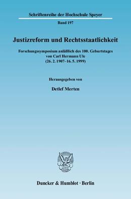Abbildung von Merten | Justizreform und Rechtsstaatlichkeit | 2009 | Forschungssymposium anläßlich ... | 197