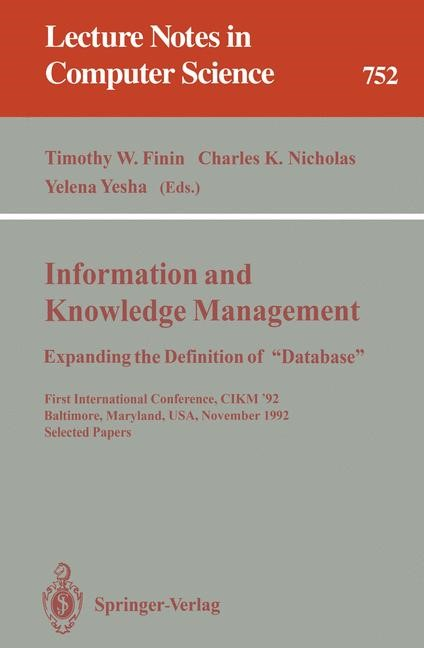 "Abbildung von Finin / Nicholas / Yesha | Information and Knowledge Management: Expanding the Definition of ""Database"" | 1993"