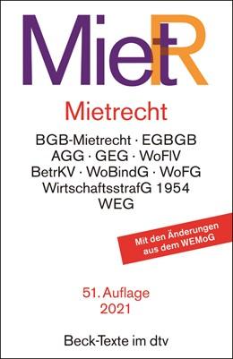 Abbildung von Mietrecht: MietR   51. Auflage   2021   5013   beck-shop.de