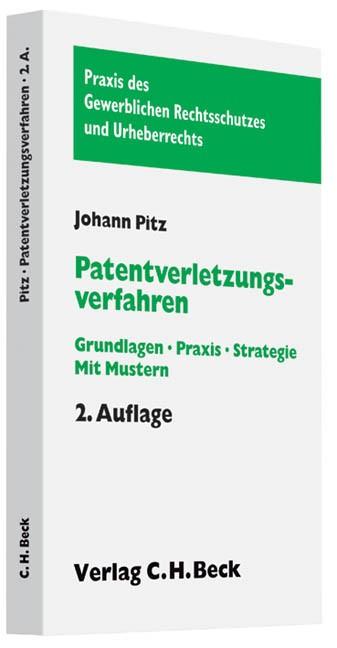 Abbildung von Pitz | Patentverletzungsverfahren | 2., aktualisierte Auflage | 2010