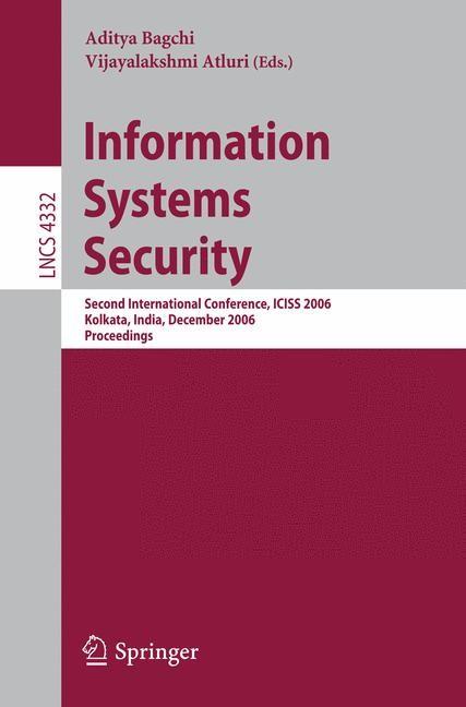 Abbildung von Bagchi / Atluri | Information Systems Security | 2006