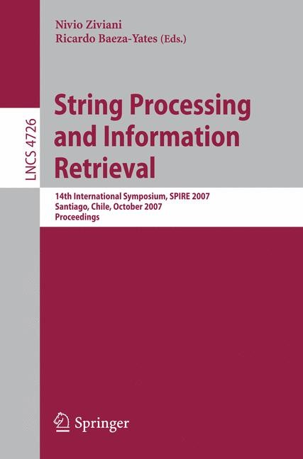 Abbildung von Ziviani / Baeza-Yates | String Processing and Information Retrieval | 2007