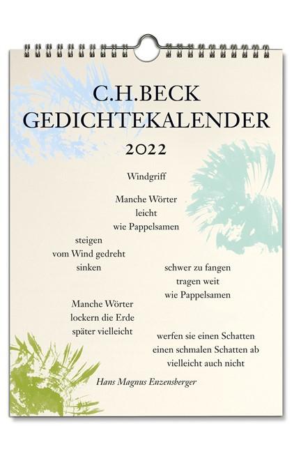 Cover: , C.H. Beck Gedichtekalender