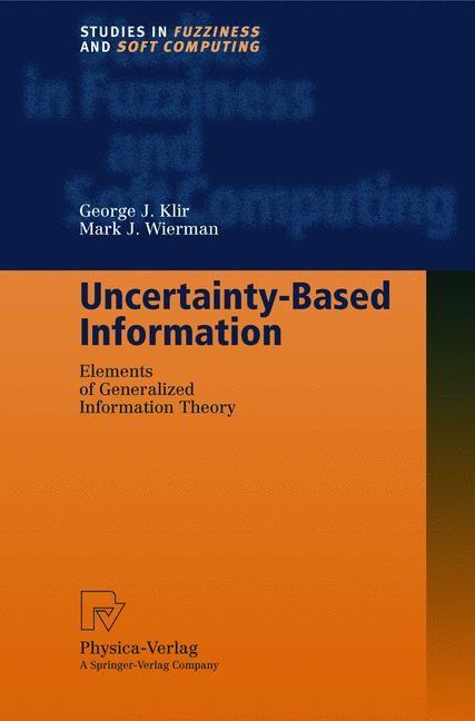 Abbildung von Klir / Wierman | Uncertainty-Based Information | 2nd corr. ed. | 1999