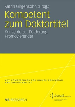 Abbildung von Girgensohn | Kompetent zum Doktortitel | 2010 | Konzepte zur Förderung Promovi...