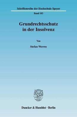 Abbildung von Werres | Grundrechtsschutz in der Insolvenz. | 2007 | 183