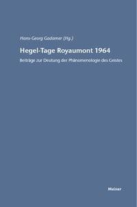 Abbildung von Gadamer | Hegel-Tage Royaumont 1964 | 2017