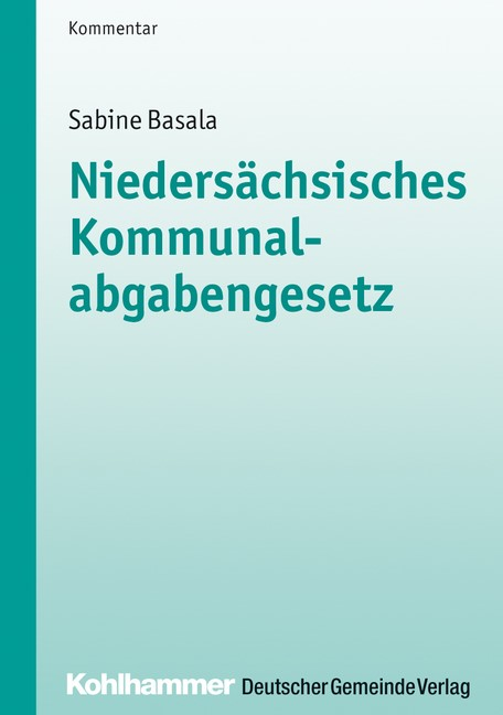 Abbildung von Basala | Niedersächsisches Kommunalabgabengesetz | 2013