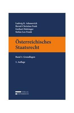 Abbildung von Adamovich / Funk | Österreichisches Staatsrecht | 3. Auflage | 2020 | beck-shop.de