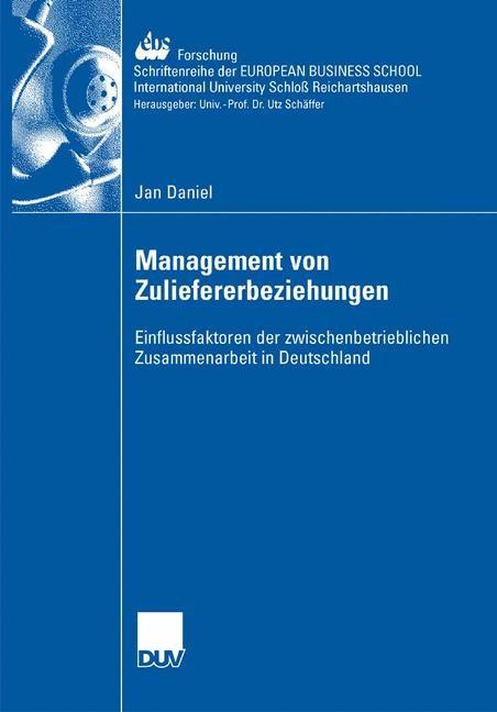 Abbildung von Daniel   Management der Zuliefererbeziehungen   2007