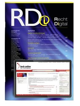 Abbildung von RDi • Recht Digital | 1. Auflage | 2021 | beck-shop.de
