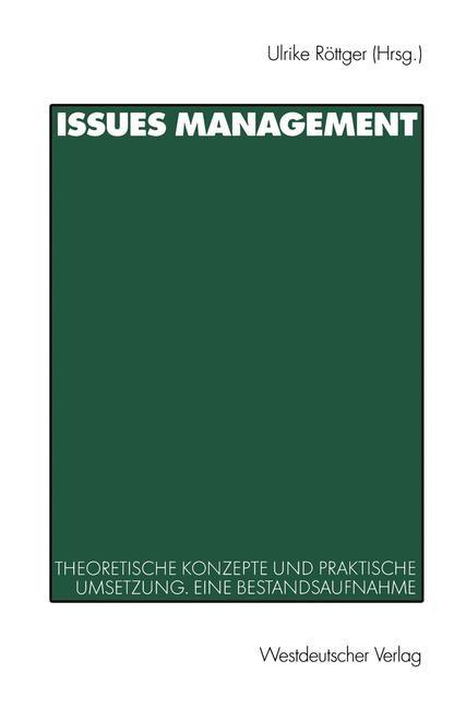Abbildung von Röttger | Issues Management | 2001