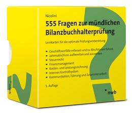 Abbildung von Nicolini   555 Fragen zur mündlichen Bilanzbuchhalterprüfung   5. Auflage   2021   beck-shop.de