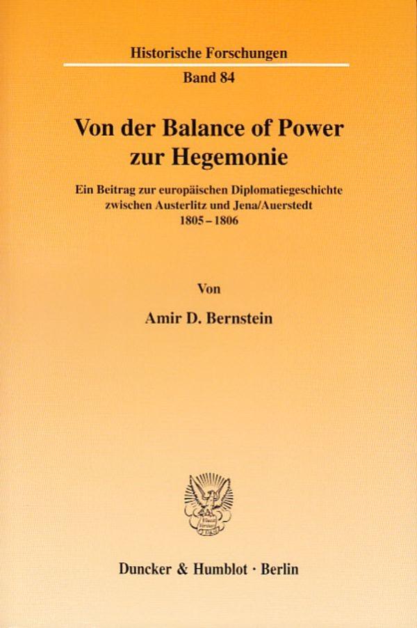 Abbildung von Bernstein   Von der Balance of Power zur Hegemonie.   2006