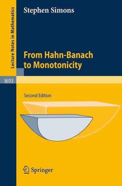 Abbildung von Simons | From Hahn-Banach to Monotonicity | 2nd, exp. ed. | 2008