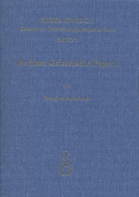 Abbildung von Sarischouli | Berliner Griechische Papyri | 1995