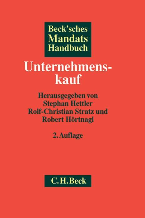 Beck'sches Mandatshandbuch Unternehmenskauf | Buch (Cover)