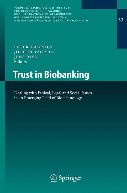 Abbildung von Dabrock / Taupitz / Ried | Trust in Biobanking | 2012