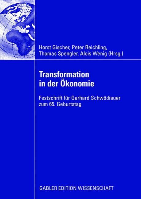 Abbildung von Reichling / Gischer / Spengler / Wenig | Transformation in der Ökonomie | 2008 | 2008