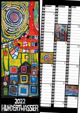Abbildung von Hundertwasser Streifenkalender Art 2022 | 1. Auflage | 2021 | beck-shop.de