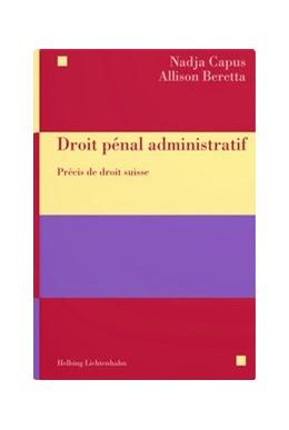 Abbildung von Droit pénal administratif | 1. Auflage | 2021 | beck-shop.de