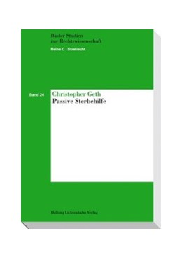 Abbildung von Geth | Passive Sterbehilfe | 2010 | Band 24