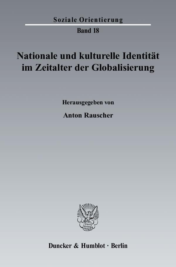 Abbildung von Rauscher | Nationale und kulturelle Identität im Zeitalter der Globalisierung. | 2006