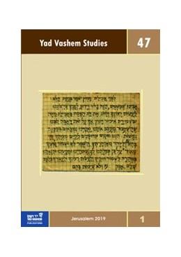 Abbildung von Silberklang | Yad Vashem Studies Vol. 47.1 | 1. Auflage | 2020 | 47.1 | beck-shop.de