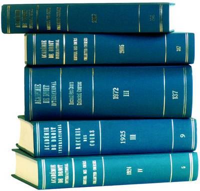 Abbildung von Recueil des cours, Collected Courses, Tome/Volume 326 (2007) | 2007