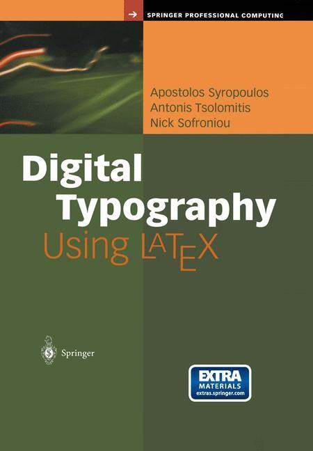 Abbildung von Syropoulos / Tsolomitis / Sofroniou | Digital Typography Using LaTeX | 2002