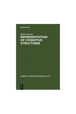 Abbildung von Achard | Representation of Cognitive Structures | Reprint 2011 | 1998 | Syntax and Semantics of French... | 11