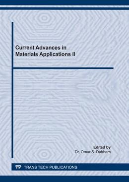 Abbildung von Dahham | Current Advances in Materials Applications II | 1. Auflage | 2021 | beck-shop.de