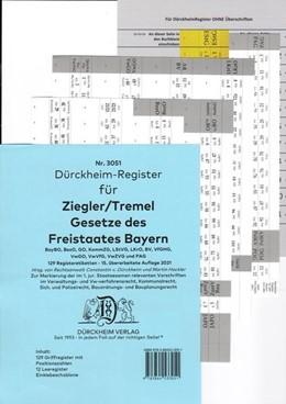 Abbildung von Dürckheim   Dürckheim-Register - Bayerische Verwaltungsgesetze (Ziegler-Tremel)   1. Auflage   2021   beck-shop.de
