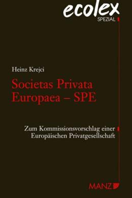 Abbildung von Krejci | Societas Privata Europaea-SPE | 2008