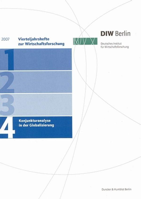 Abbildung von Konjunkturanalyse in der Globalisierung. | 2007