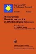 Abbildung von Hall / Palz | Photochemical, Photoelectrochemical and Photobiological Processes, Vol.1 | 1982