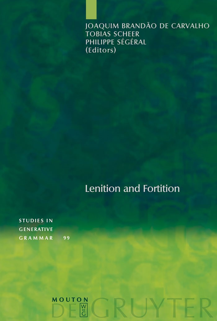 Lenition and Fortition | Brandão de Carvalho / Scheer / Ségéral, 2008 | Buch (Cover)