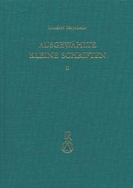 Abbildung von Schmitt | Ausgewählte Kleine Schriften | 1996 | Festgabe für Manfred Mayrhofer...