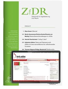 Abbildung von ZfDR • Zeitschrift für Digitalisierung und Recht | 1. Auflage | 2021 | beck-shop.de