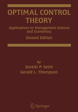 Abbildung von Sethi / Thompson | Optimal Control Theory | 2000 | Applications to Management Sci...