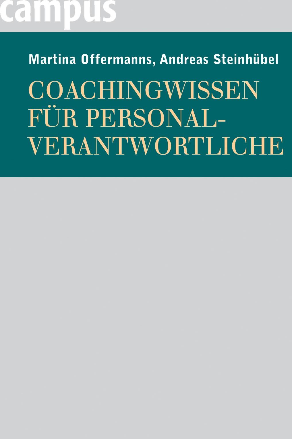 Coachingwissen für Personalverantwortliche   Offermanns / Steinhübel, 2006   Buch (Cover)