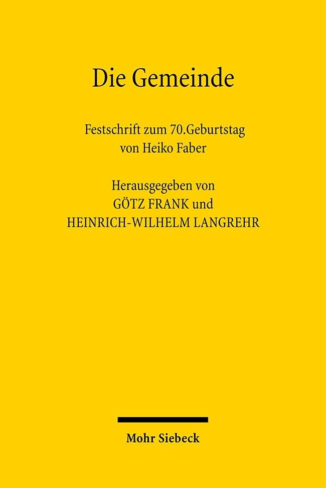 Abbildung von Frank / Langrehr | Die Gemeinde | 1., Aufl. | 2007